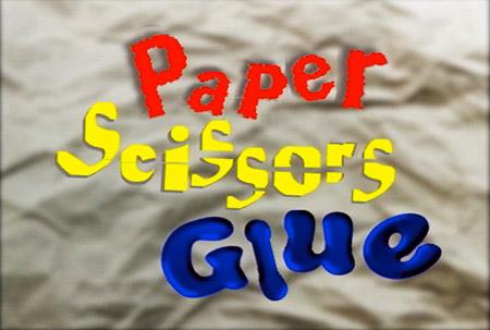 paper scissors glue logo