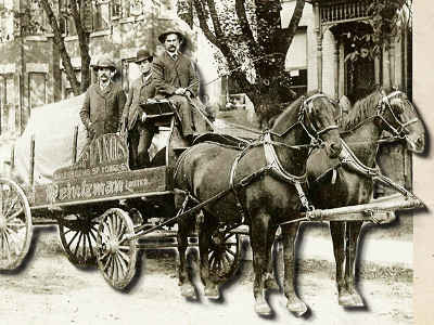 piano delivery by horse and wagon