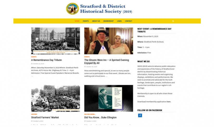 Stratford & District Historical Society