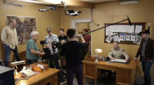 The Sanctuary crew on set