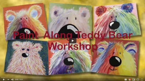 paint along teddy bear